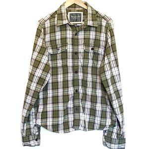 Abercrombie Fitch shirt XL plaid 100% cotton